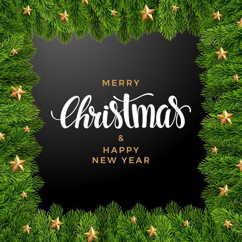 Weihnachtstannenhintergrund, realistischer Blick, Feiertagsdesign