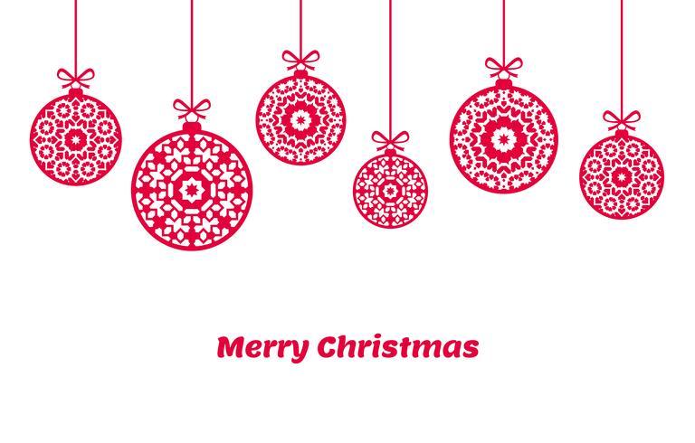Adornos de bolas navideñas, decoración navideña, ilustración vector
