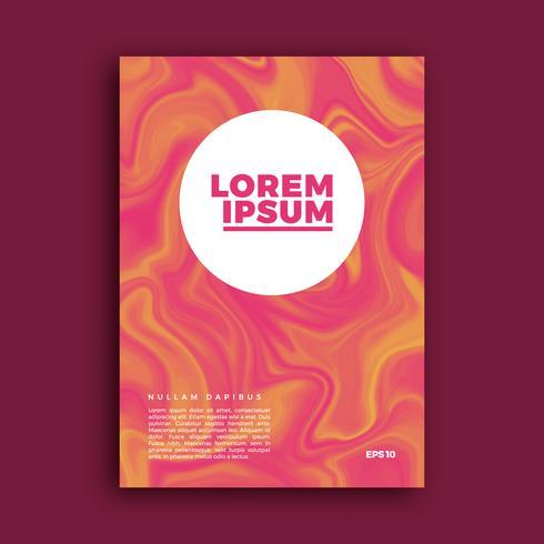 Conception de la page couverture, fond liquide créatif