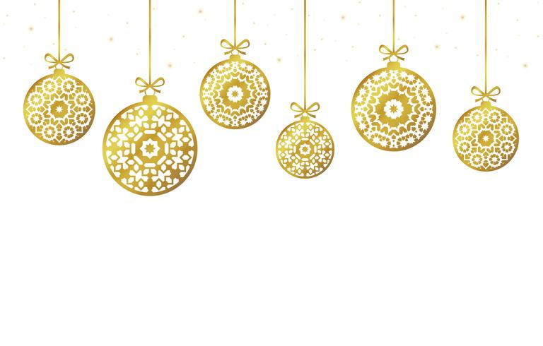 Christmas balls ornaments, xmas decoration, illustration vector