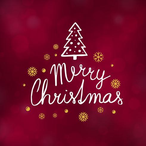 Illustration vectorielle de joyeux Noël typographie design