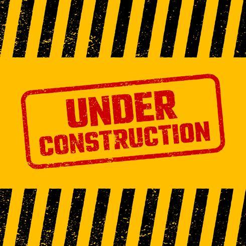 Under construction design, website development concept, illustration