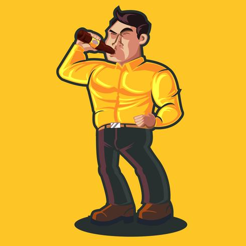 Guy drink bier