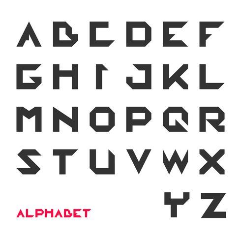 Carattere geometrico, tipografia futuristica moderna
