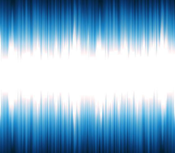 Son abstrait ou onde lumineuse oscillant vecteur