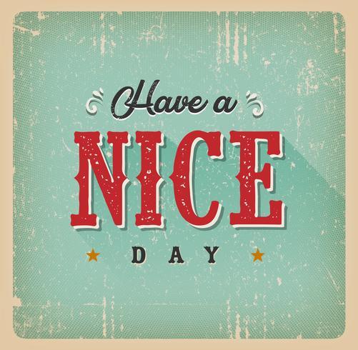 Haben Sie eine schöne Tageskarte