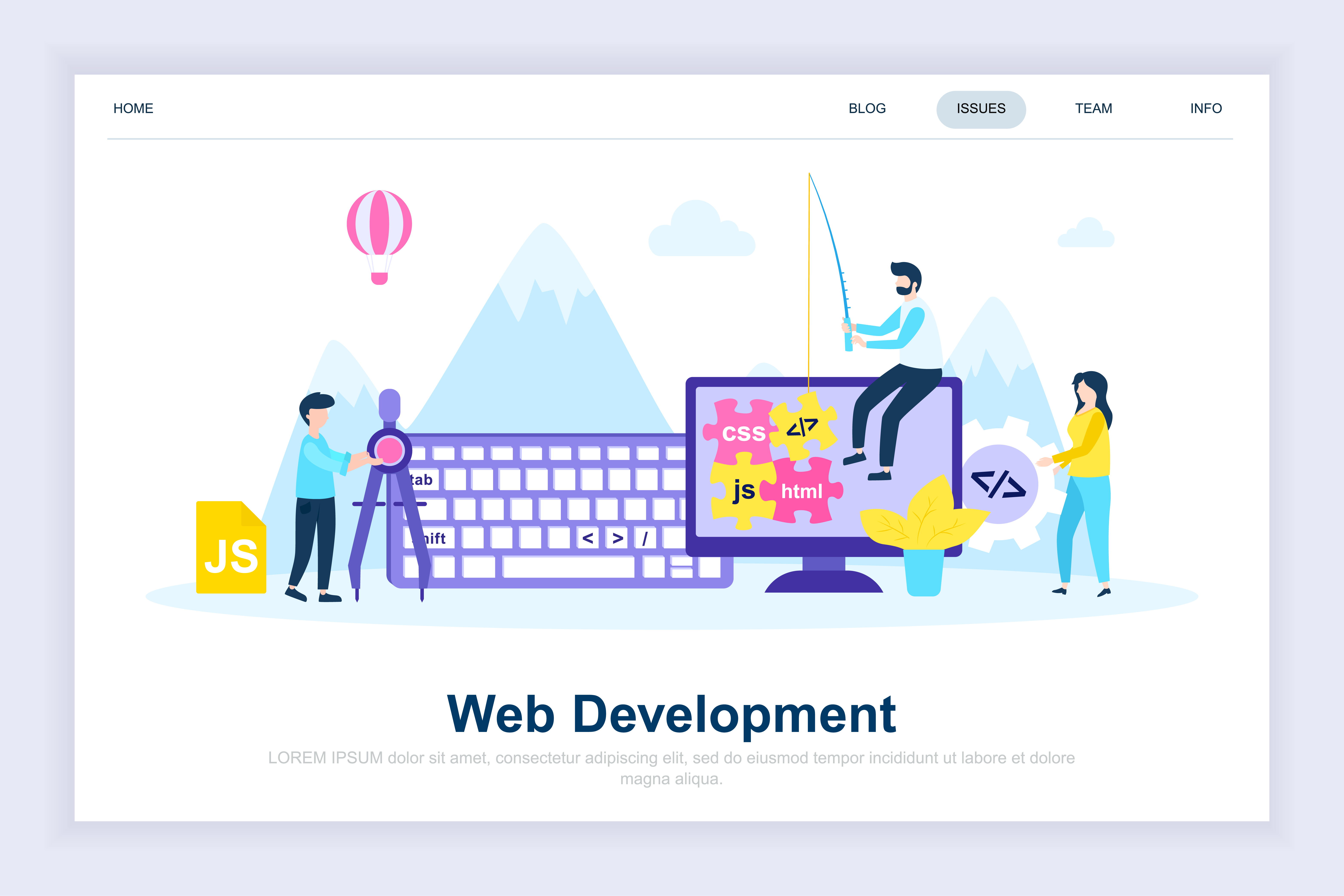 Vector Illustration Web Designs: Web Development Modern Flat Design Concept