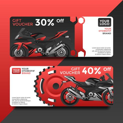 Otomotif Presentkort Voucher Templates Vector