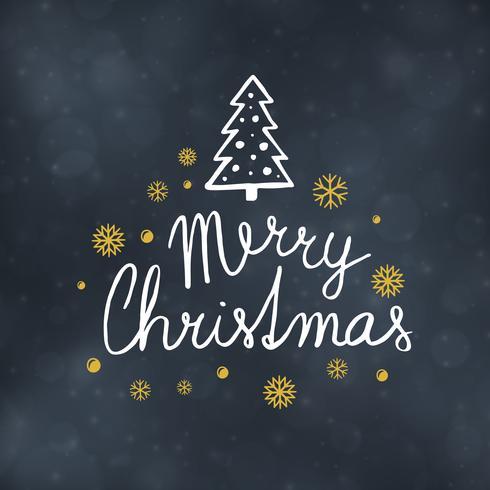Ilustración de vector de diseño de tipografía de feliz Navidad