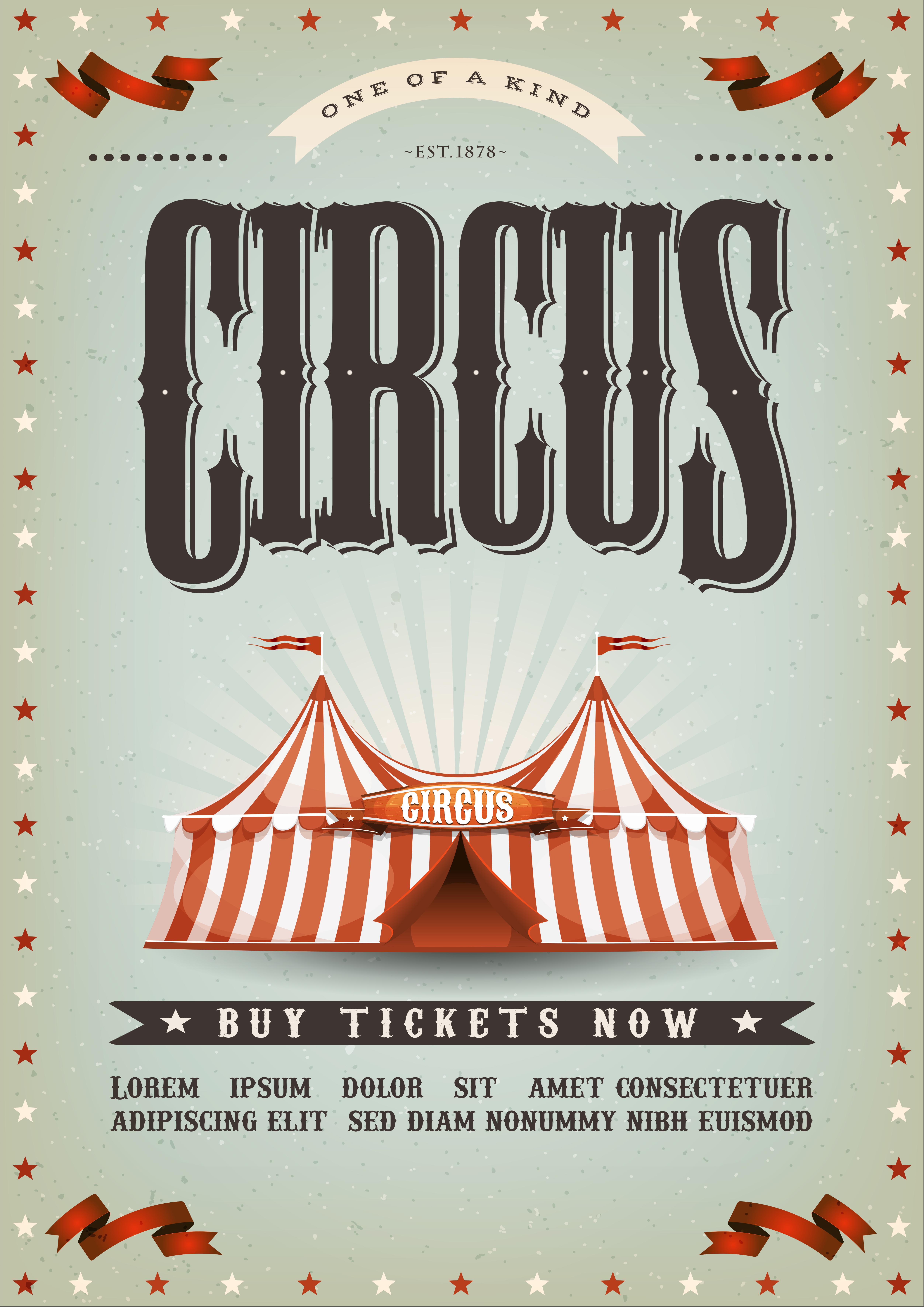 Circus Poster Design - Download Free Vectors, Clipart ...
