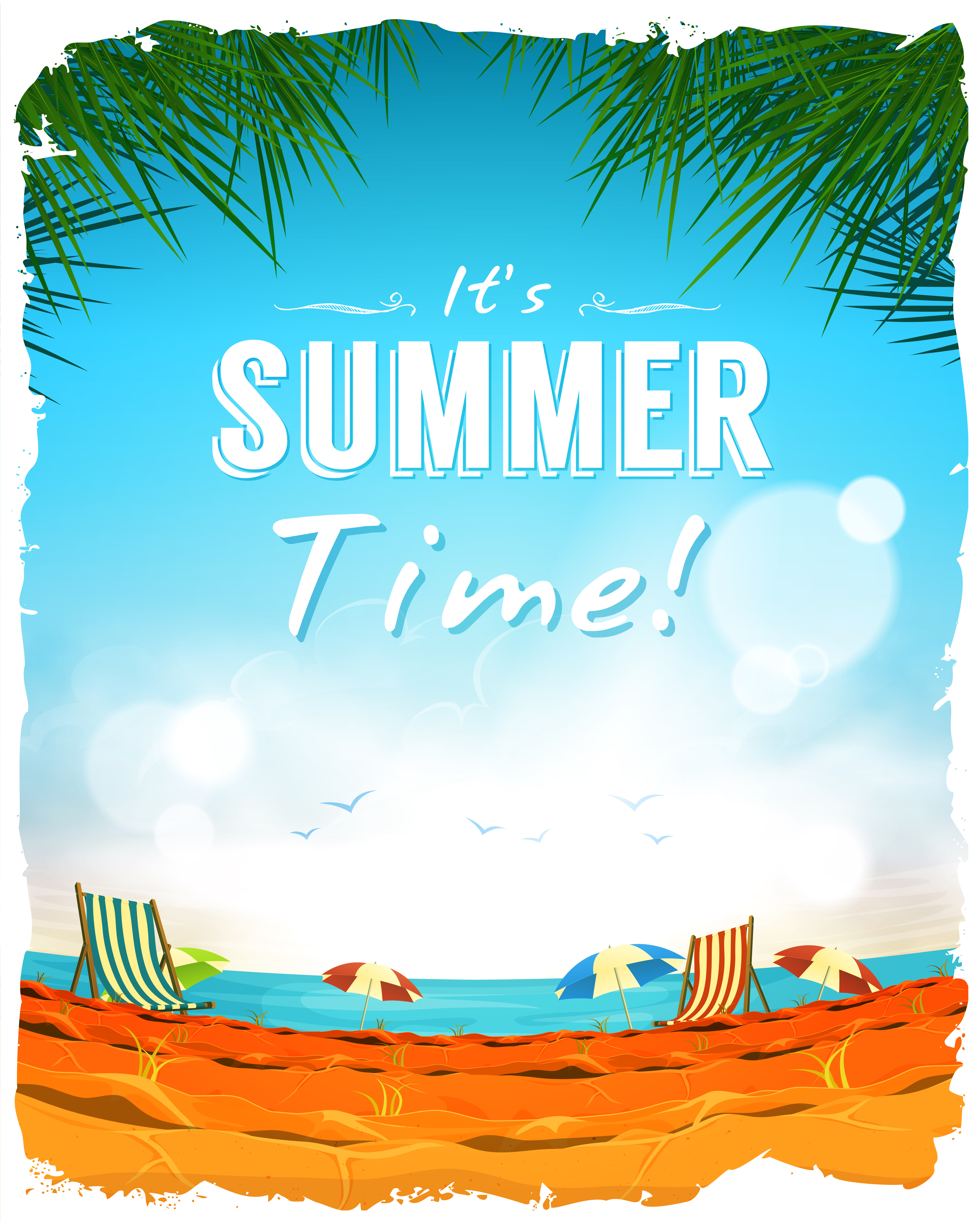 Summer Time Poster Background - Download Free Vectors ...