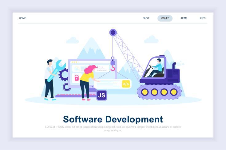 Programutveckling modernt plattdesignkoncept