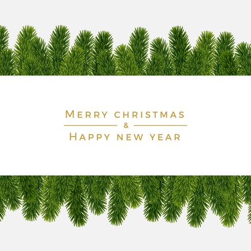 Christmas fir background, realistic look, holiday design vector