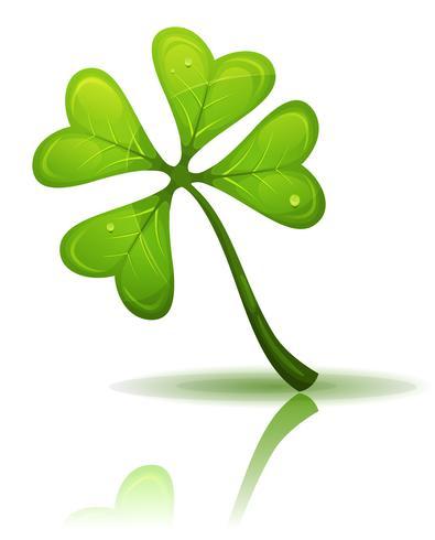 Trèfle à quatre feuilles de St. Patrick's Holidays vecteur