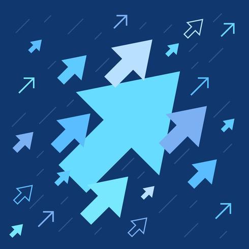 Flechas arriba, aumento y éxito ilustración de negocios.