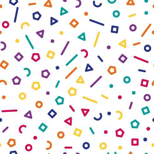 Färgglada geometriska former, sömlös bakgrund, illustration