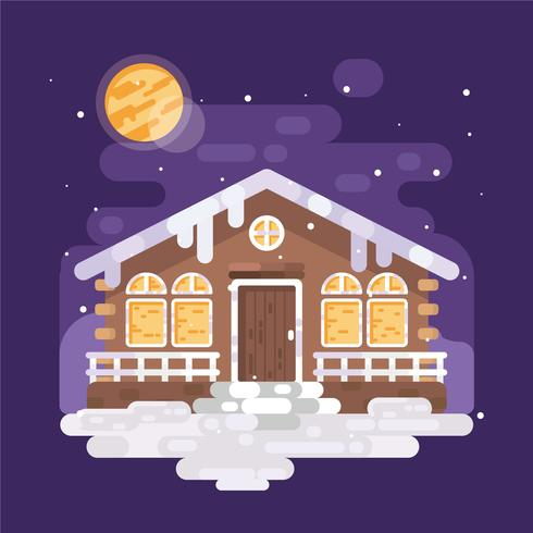 Vecteur de village d'hiver