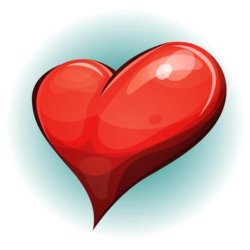 Cartoon Big Red Heart Icon
