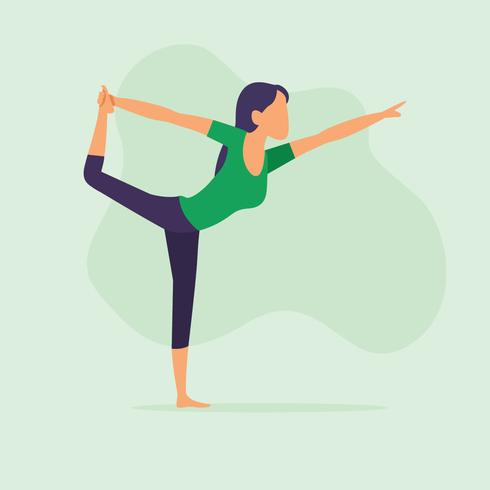 Woman in yoga pose - Download Free Vector Art, Stock Graphics & Images