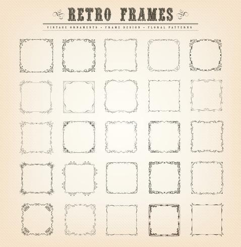 Vintage ouderwetse frames
