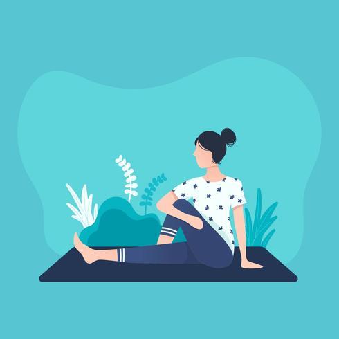 Vector de clase de yoga