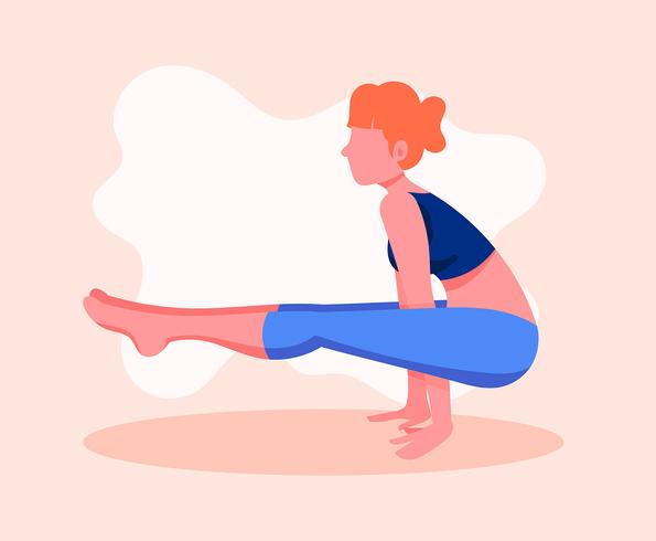 Illustration de cours de yoga