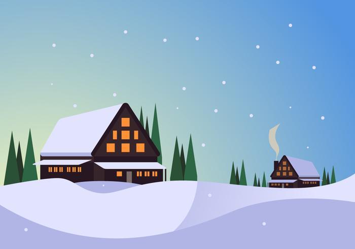 awesome vinterby vektorer