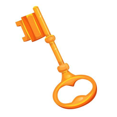 Icono de llave de oro