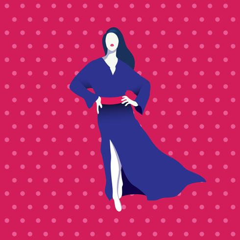 Femme en illustration vectorielle caftan