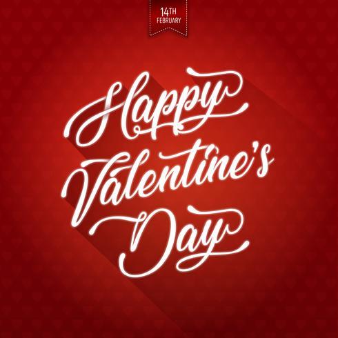 Feliz dia de san valentin de fondo vector