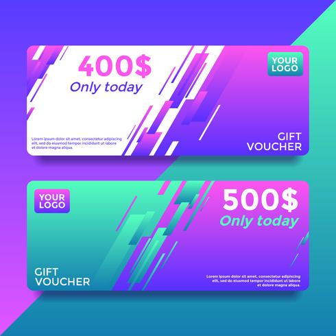 Only Today Gift Card Voucher Templates Vector