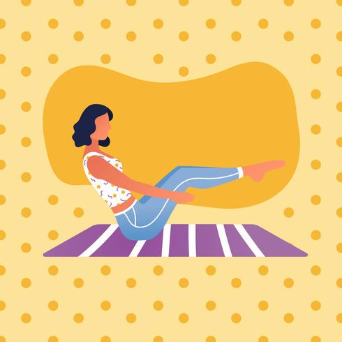 Vecteur de classe de yoga