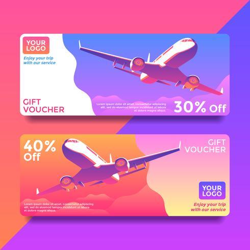 Trip Gift Card Voucher Templates Vector Download Free Vector Art