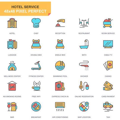 Conjunto de iconos de servicios de hotel vector