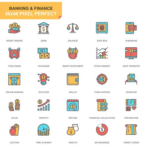 Banque et finance Icon Set