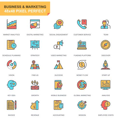 Affaires et marketing Icon Set