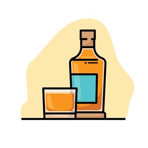 Bourbon illustration vector
