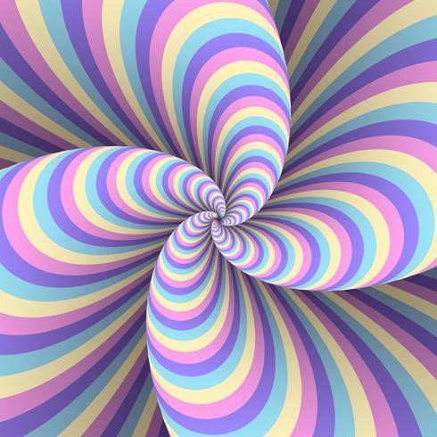 Fond de distorsion pastel multicolore à rayures abstraites