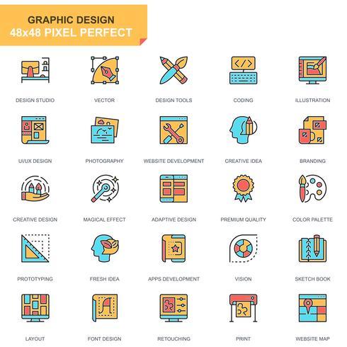 Web and Graphic Design Icon Set