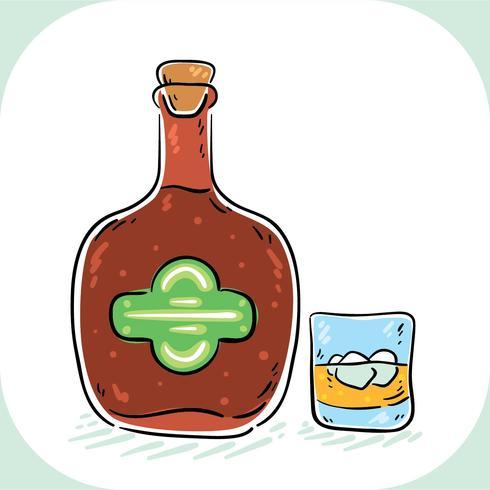 Vecteur Bourbon dessiné à la main