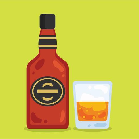 Flat Bourbon Vector