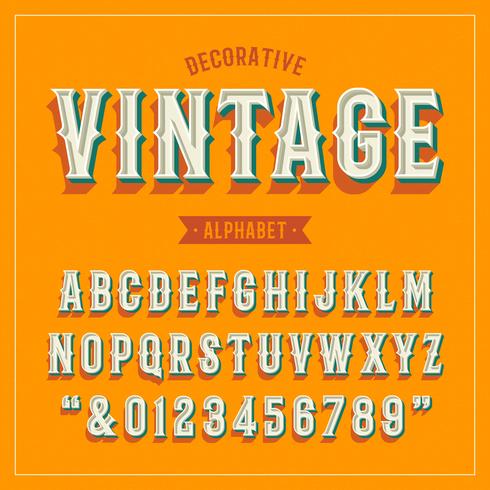 Dekorativa Vintage Vector Alfabet