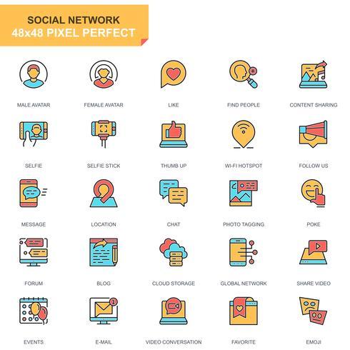 Sociala medier och nätverksikoner