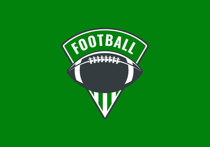 Vector de raya verde emblema de fútbol americano