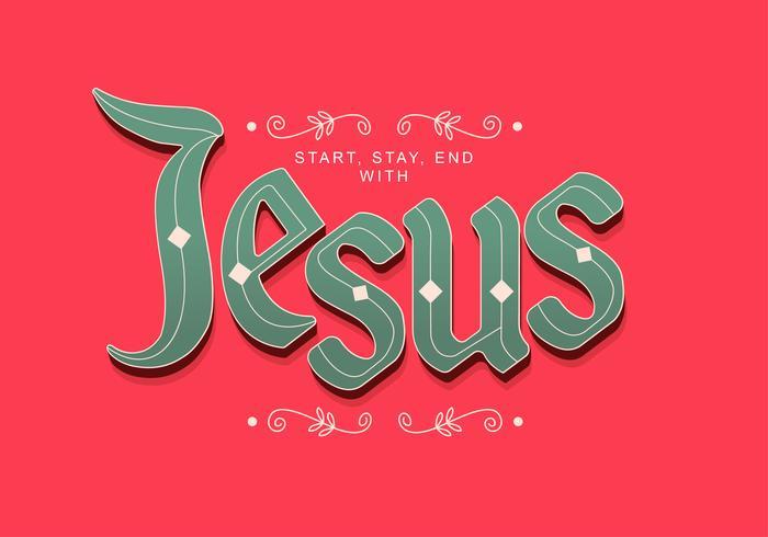 tipografía jesús mano letras
