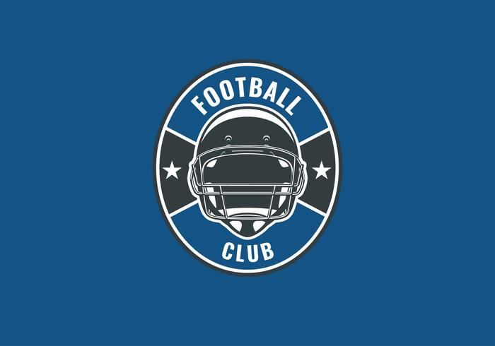 Vector de casco de emblema de fútbol americano