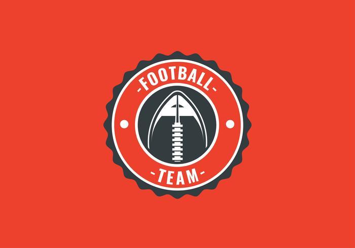 amerikansk fotboll emblem boll vektor
