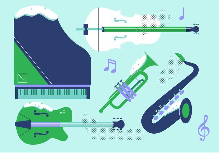 musikinstrument vektor platt instrument