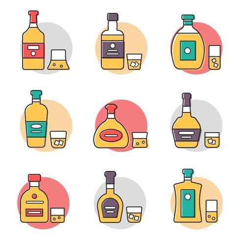 Vecteur collection bourbon