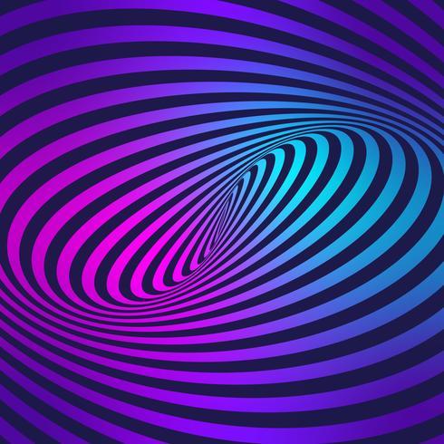 Movimento de listras ilusão fundo colorido